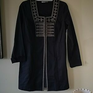 Cabi long embroidered jacket 6
